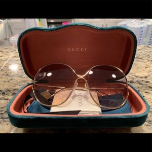 Authentic Gucci Round-frame metal sunglasses